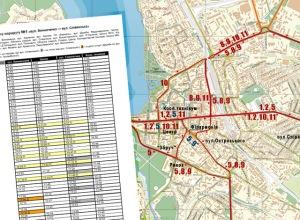 Графіки руху і схема тролейбусних маршрутів