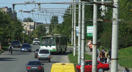Škoda 15Tr №153 на маршруті №8